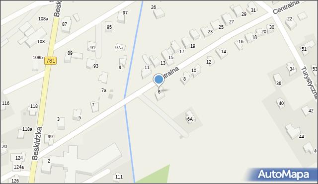Sułkowice, Centralna, 6, mapa Sułkowice