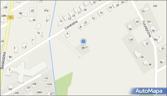 Sułkowice, Centralna, 6A, mapa Sułkowice