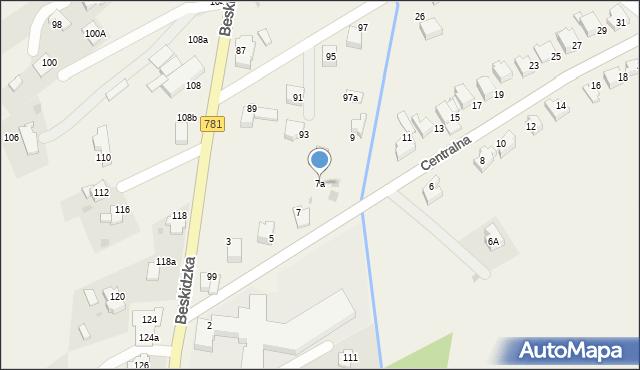 Sułkowice, Centralna, 7a, mapa Sułkowice