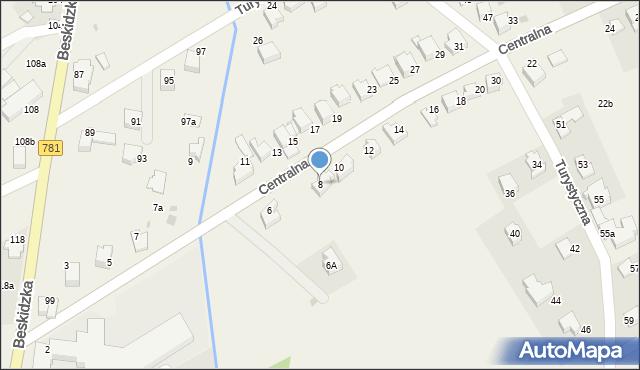 Sułkowice, Centralna, 8, mapa Sułkowice