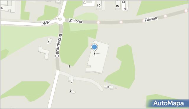 Świętochłowice, Ceramiczna, 1, mapa Świętochłowice