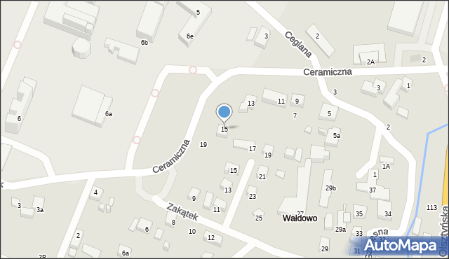 Toruń, Ceramiczna, 15, mapa Torunia