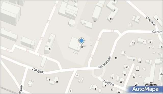 Toruń, Ceramiczna, 6a, mapa Torunia