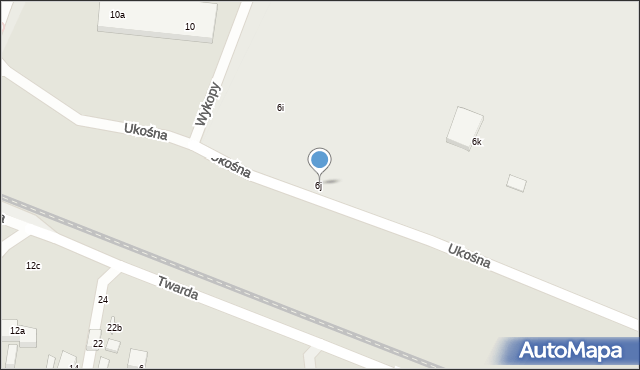 Toruń, Ceramiczna, 6j, mapa Torunia