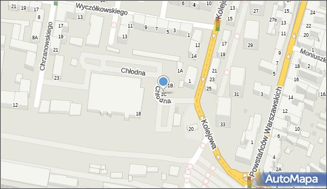 Bytom, Chłodna, 1C, mapa Bytomia