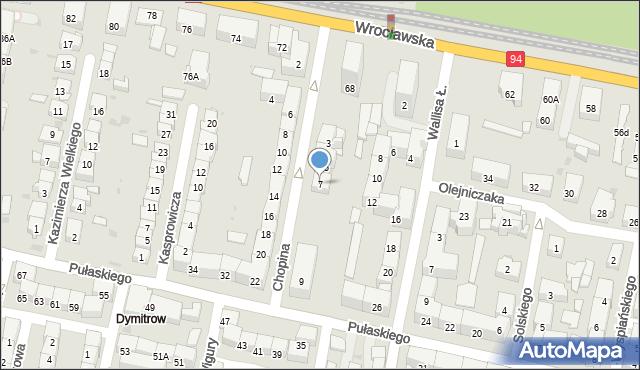 Bytom, Chopina Fryderyka, 7, mapa Bytomia