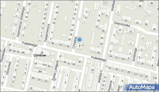 Bytom, Chopina Fryderyka, 9, mapa Bytomia
