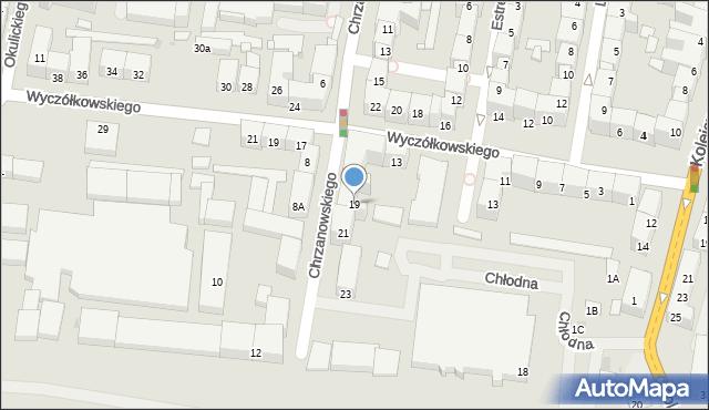 Bytom, Chrzanowskiego Ignacego, 19, mapa Bytomia
