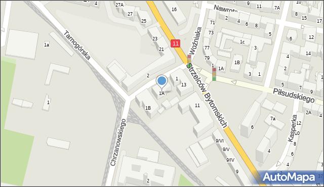 Bytom, Chrzanowskiego Ignacego, 1A, mapa Bytomia