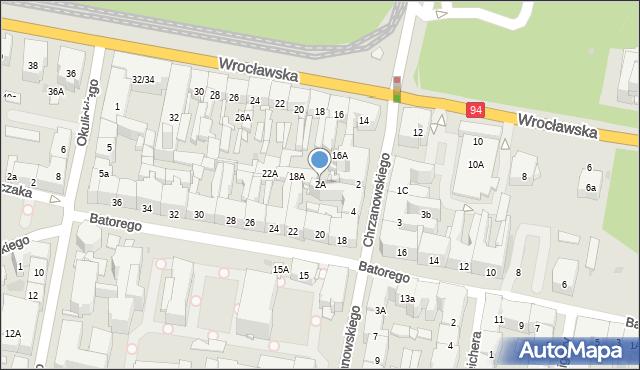 Bytom, Chrzanowskiego Ignacego, 2A, mapa Bytomia
