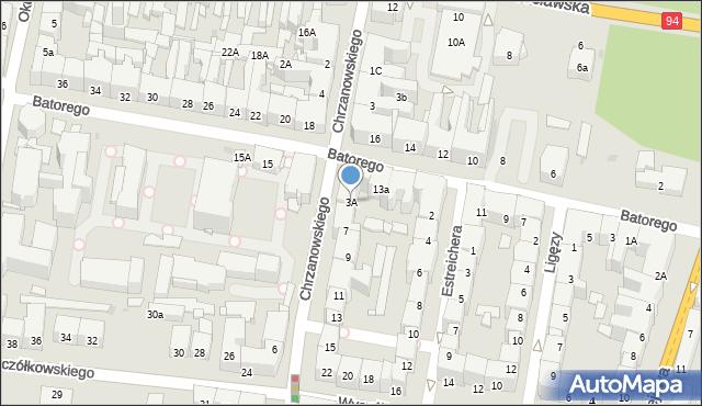 Bytom, Chrzanowskiego Ignacego, 3A, mapa Bytomia