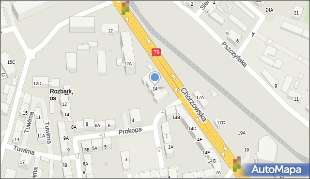 Bytom, Chorzowska, 14, mapa Bytomia