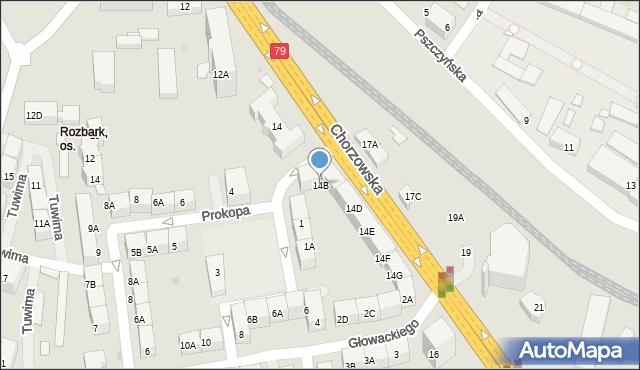 Bytom, Chorzowska, 14B, mapa Bytomia