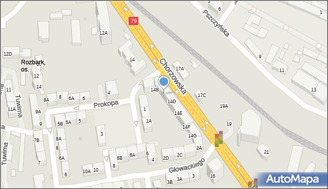 Bytom, Chorzowska, 14C, mapa Bytomia