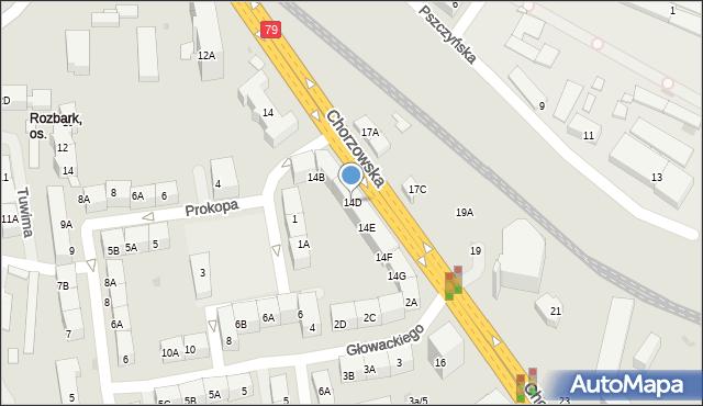 Bytom, Chorzowska, 14D, mapa Bytomia