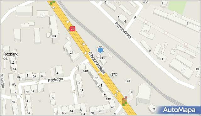 Bytom, Chorzowska, 17A, mapa Bytomia