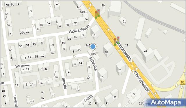 Bytom, Chorzowska, 18A, mapa Bytomia