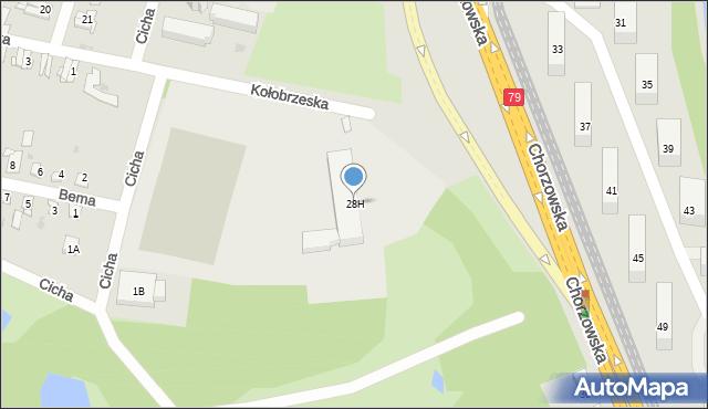 Bytom, Chorzowska, 28H, mapa Bytomia