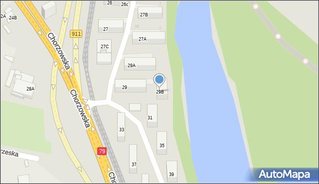 Bytom, Chorzowska, 29B, mapa Bytomia