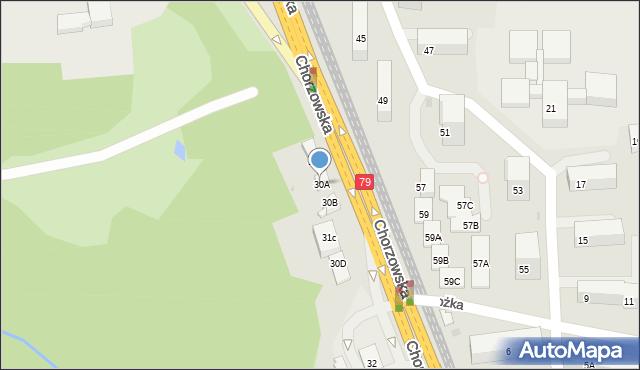 Bytom, Chorzowska, 30A, mapa Bytomia