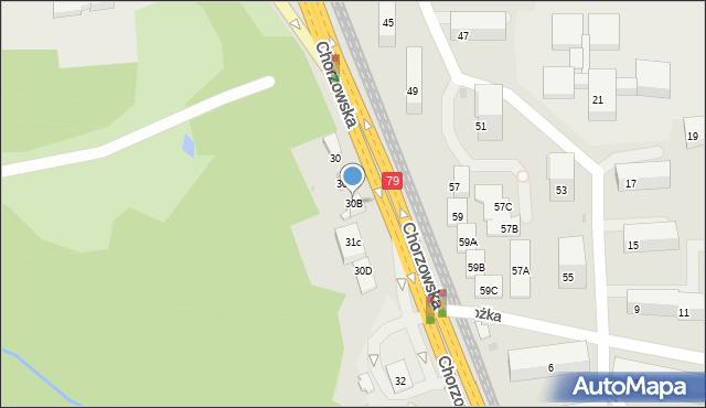 Bytom, Chorzowska, 30B, mapa Bytomia
