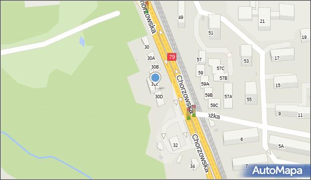 Bytom, Chorzowska, 30c, mapa Bytomia