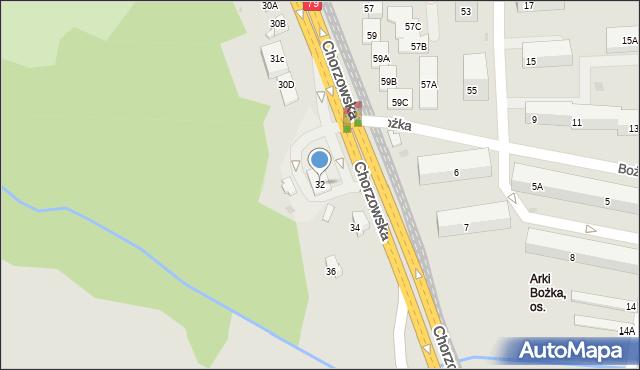 Bytom, Chorzowska, 32, mapa Bytomia