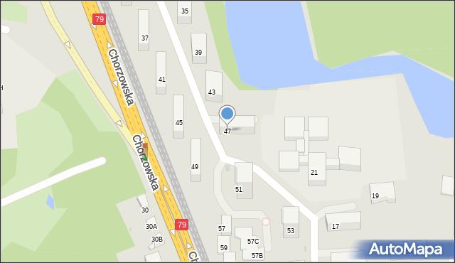 Bytom, Chorzowska, 47, mapa Bytomia