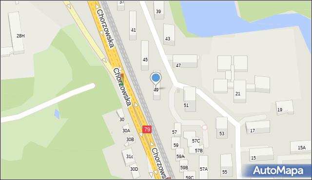 Bytom, Chorzowska, 49, mapa Bytomia