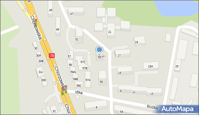 Bytom, Chorzowska, 53, mapa Bytomia