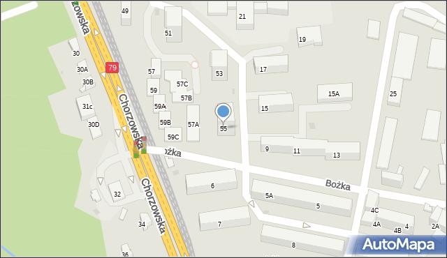 Bytom, Chorzowska, 55, mapa Bytomia