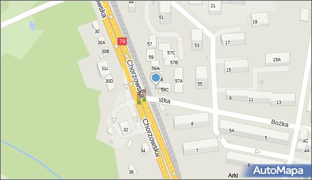 Bytom, Chorzowska, 56c, mapa Bytomia