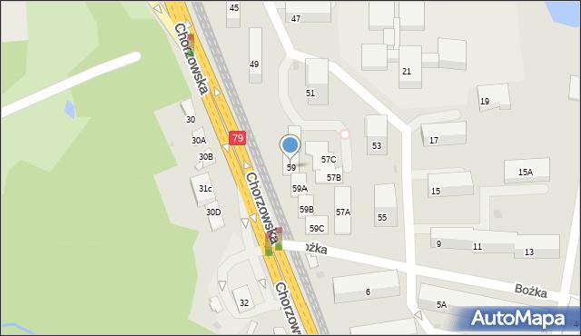 Bytom, Chorzowska, 59, mapa Bytomia