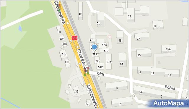 Bytom, Chorzowska, 59A, mapa Bytomia