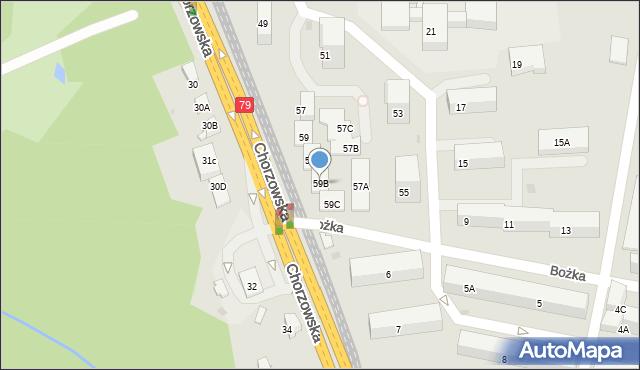 Bytom, Chorzowska, 59B, mapa Bytomia