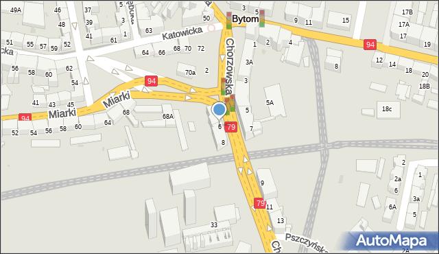 Bytom, Chorzowska, 6, mapa Bytomia