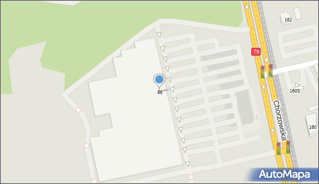 Bytom, Chorzowska, 86, mapa Bytomia
