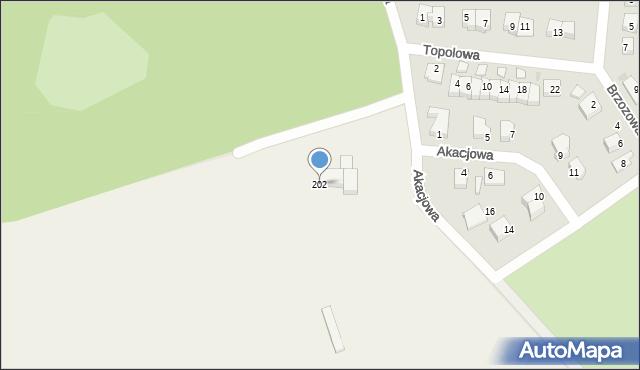 Chocianowiec, Chocianowiec, 202, mapa Chocianowiec