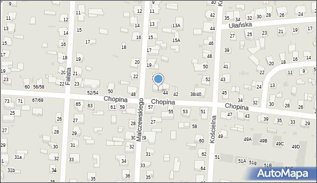 Częstochowa, Chopina Fryderyka, 46, mapa Częstochowy