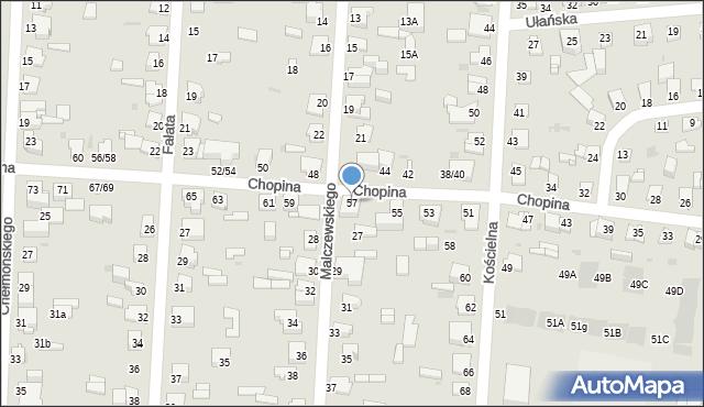 Częstochowa, Chopina Fryderyka, 57, mapa Częstochowy