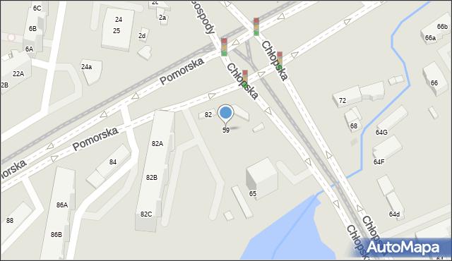 Gdańsk, Chłopska, 59, mapa Gdańska