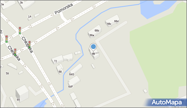 Gdańsk, Chłopska, 66, mapa Gdańska