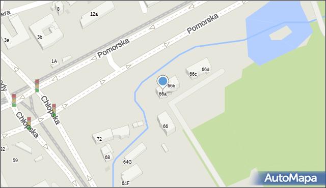 Gdańsk, Chłopska, 66a, mapa Gdańska