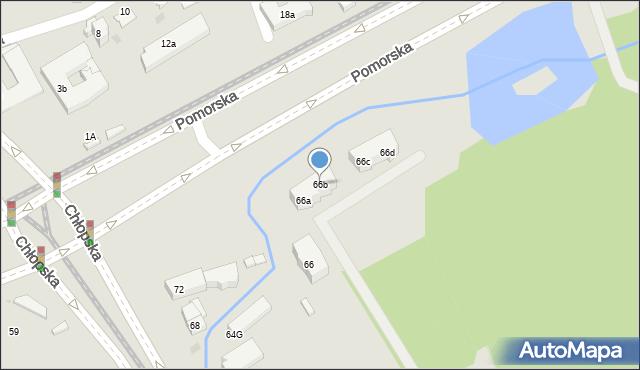 Gdańsk, Chłopska, 66b, mapa Gdańska