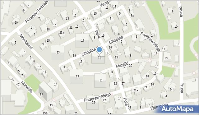 Gdynia, Chopina Fryderyka, 11, mapa Gdyni