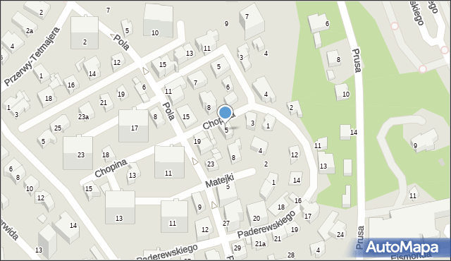 Gdynia, Chopina Fryderyka, 5, mapa Gdyni