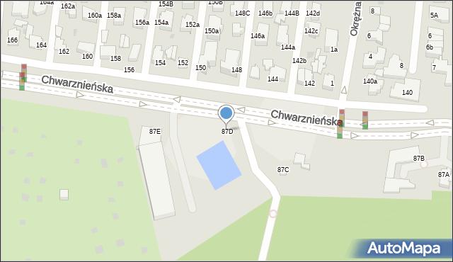 Gdynia, Chwarznieńska, 87D, mapa Gdyni