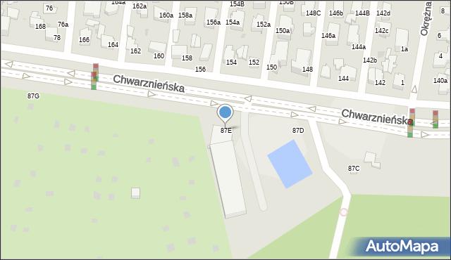 Gdynia, Chwarznieńska, 87E, mapa Gdyni