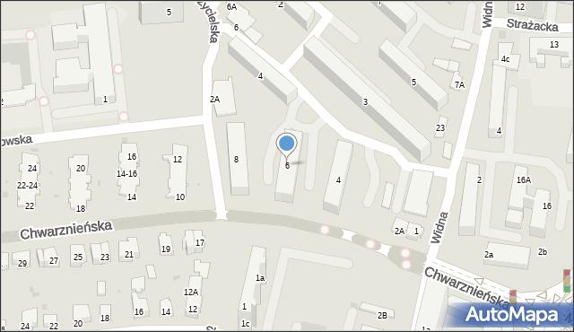 Gdynia, Chwarznieńska, 6, mapa Gdyni