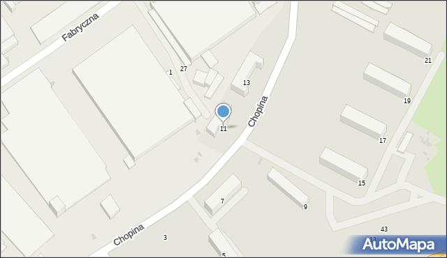 Gorlice, Chopina Fryderyka, 11, mapa Gorlic